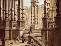 Декоративная фреска с величественными ступениями