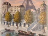 Фреска с Эйфелевой Башней