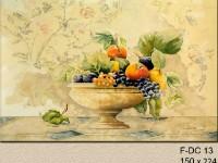 Декоративная фреска с фруктами