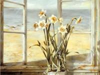 Красивая фреска с цветами