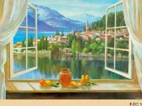 Фреска с видом на город