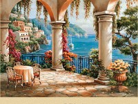 Фреска колонны и море