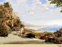 Фреска для дома с древним городом