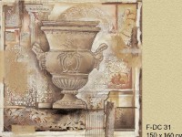 Декоративная фреска с вазой