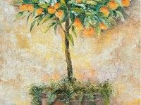 Декоративная фреска с апельсинами