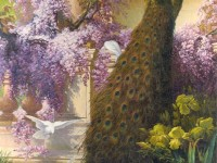 Фреска с павлином