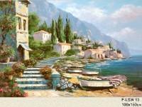 Фреска с рыбацким поселком
