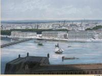 Фреска на стену с видом на Петербург
