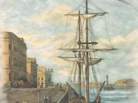 Фреска с пришвартованным кораблем