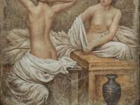 Декоративная фреска с девушками