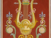 Фреска с арфой