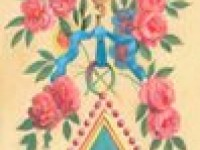 Фреска на стену с цветочным узором