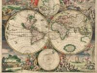 Фреска со средневековой картой