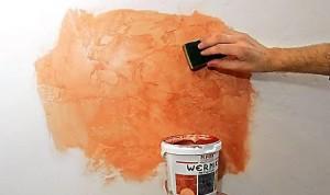 Декоративная покраска стен в квартире своими руками