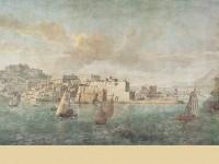 Фреска с кораблями под парусами