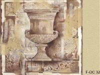 Фреска для дома с древней вазой