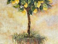 Фреска для дома с лимонами