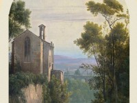 Фреска с древней церковью