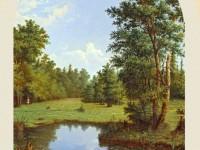 Фреска с лесом
