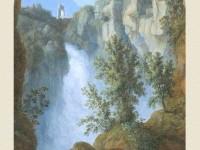 Фреска на стену с водопадом