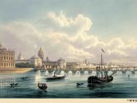Фреска с пароходом на реке