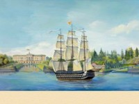 Фреска на стену с панорамой Петербурга