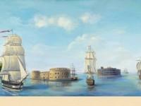 Фреска с панорамой Крондштадта