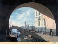 Фреска с видом на Петропавловскую крепость