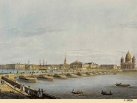 Фреска с плавучим мостом