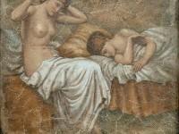 Фреска на стену с двумя девушками