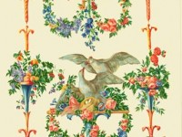 Фреска с узором и птицами