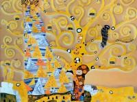 Фреска с гуляющей женщиной