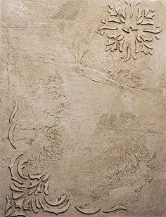 декорирование стен штукатуркой
